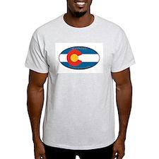 CO State Flag Ash Grey T-Shirt