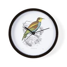 European Bee Eater Bird Wall Clock