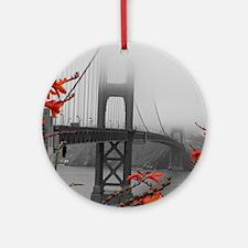 Golden Gate Bridge with Orange Ornament (Round)