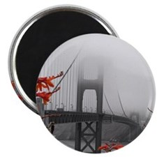 Golden Gate Bridge with Orange Magnet