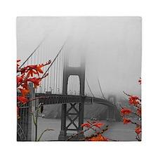 Golden Gate Bridge with Orange Queen Duvet