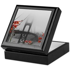 Golden Gate Bridge with Orange Keepsake Box