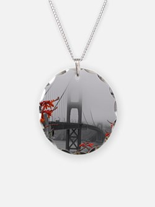 Golden Gate Bridge with Orange Necklace