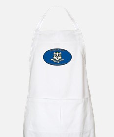 CT State Flag BBQ Apron
