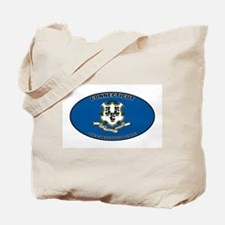 CT State Flag Tote Bag