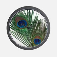 Lovely Peacock Feathers Wall Clock