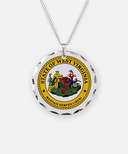 West Virginia State Seal Necklace