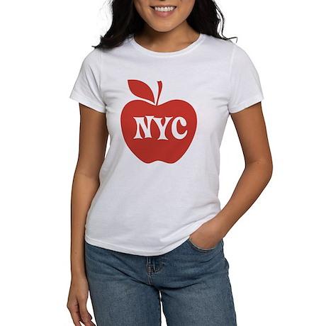 New York CIty Big Red Apple Women's T-Shirt
