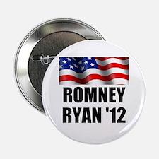 "Romney Ryan 12, Waving Flag 2.25"" Button"