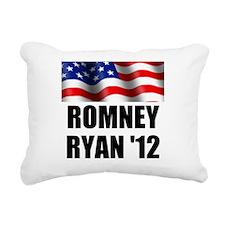 Romney Ryan 12, Waving Flag Rectangular Canvas Pil