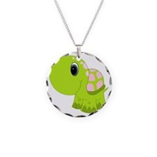 Pink and Green Baby Turtle Necklace