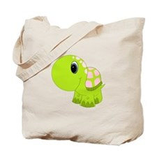 Pink and Green Baby Turtle Tote Bag