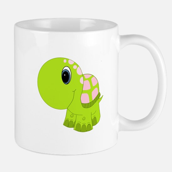 Pink and Green Baby Turtle Mug