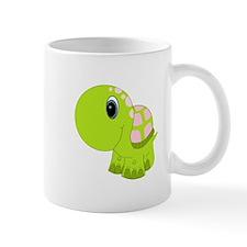 Pink and Green Baby Turtle Mug