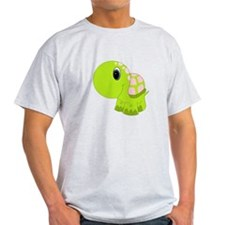 Pink and Green Baby Turtle T-Shirt