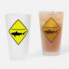 Shark Alert Drinking Glass