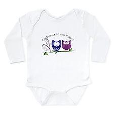 Owlways in my heart Long Sleeve Infant Bodysuit