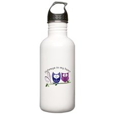 Owlways in my heart Water Bottle