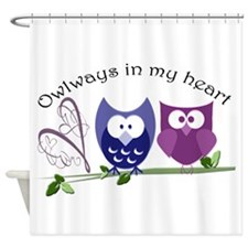 Owlways in my heart Shower Curtain