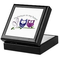 Owlways in my heart Keepsake Box