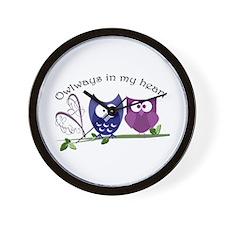 Owlways in my heart Wall Clock