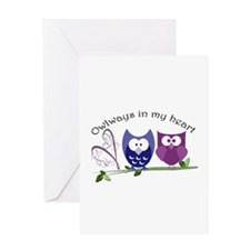 Owlways in my heart Greeting Card