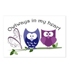 Owlways in my heart Postcards (Package of 8)