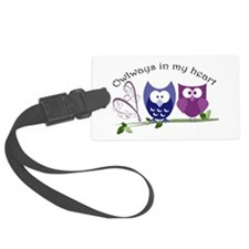 Owlways in my heart Luggage Tag