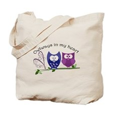 Owlways in my heart Tote Bag