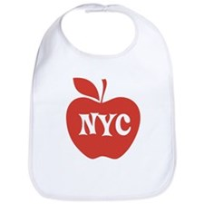 New York CIty Big Red Apple Bib