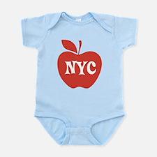 New York CIty Big Red Apple Infant Bodysuit