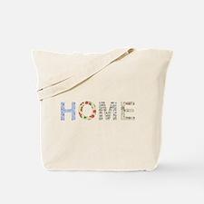Vintage Floral Home Tote Bag