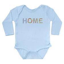 Vintage Floral Home Long Sleeve Infant Bodysuit