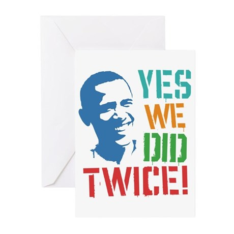 Yes We Did Twice! Greeting Cards (Pk of 20)