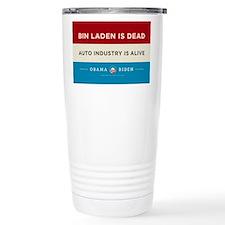 Bin Laden Dead, Auto Industry Alive Travel Mug