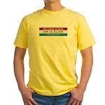 Bin Laden Dead, Auto Industry Alive Yellow T-Shirt