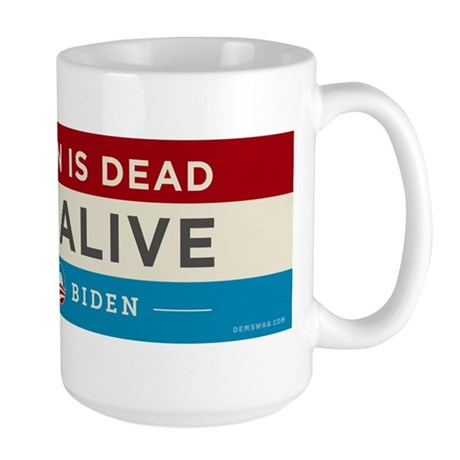 Bin Laden Dead, Auto Industry Alive Large Mug