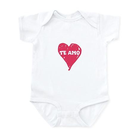 te amo infant bodysuit