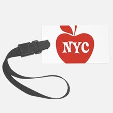 New York CIty Big Red Apple Luggage Tag