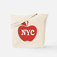 New York CIty Big Red Apple Tote Bag