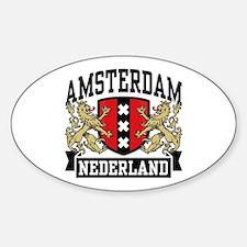 Amsterdam Nederland Sticker (Oval)