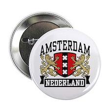 """Amsterdam Nederland 2.25"""" Button"""