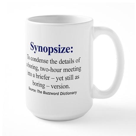 Left-handed Synopsize Large Mug