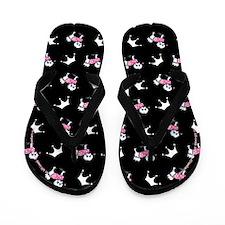Maltese n Tiaras Black Flip Flops