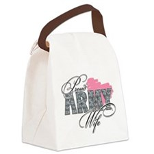 Proud Army Wife .png Canvas Lunch Bag