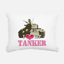 i love my tanker.png Rectangular Canvas Pillow