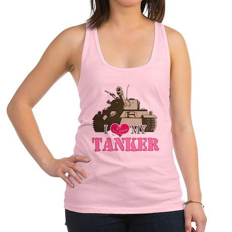 i love my tanker.png Racerback Tank Top