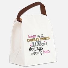 heroacu.png Canvas Lunch Bag
