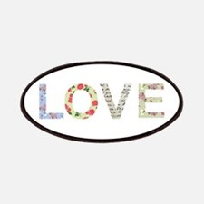 Shabby Chic Love Typography Patches