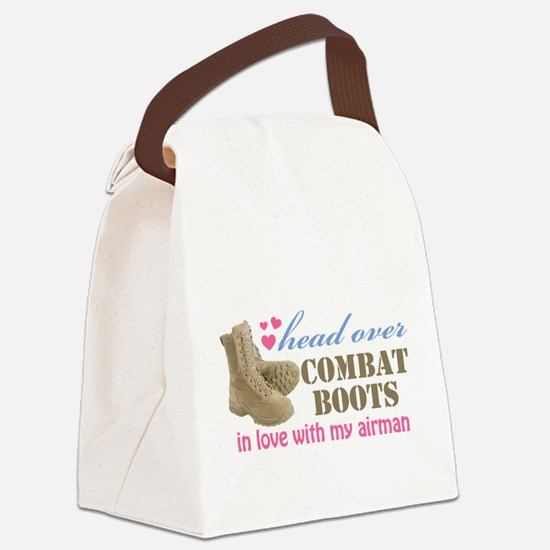 head over boots2.png Canvas Lunch Bag